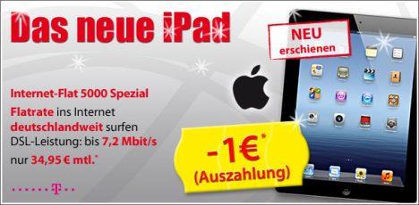 Neues Apple iPad mit Barauszahlung